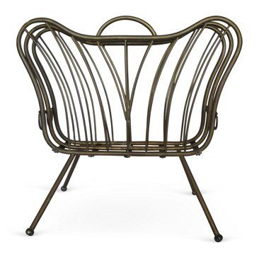 Check out this item at One Kings Lane! Gio' Ponti attr. Brass Magazine Rack