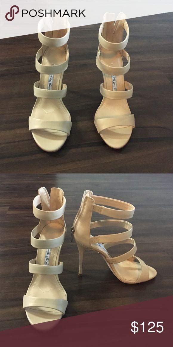 Charles David Olina Sandal Heel Never worn! Super cute Charles David Shoes Heels
