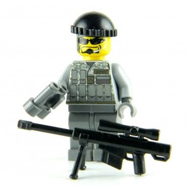 Army Special Forces - Sniper Made With Real LEGO(R) Mini-Figure Parts