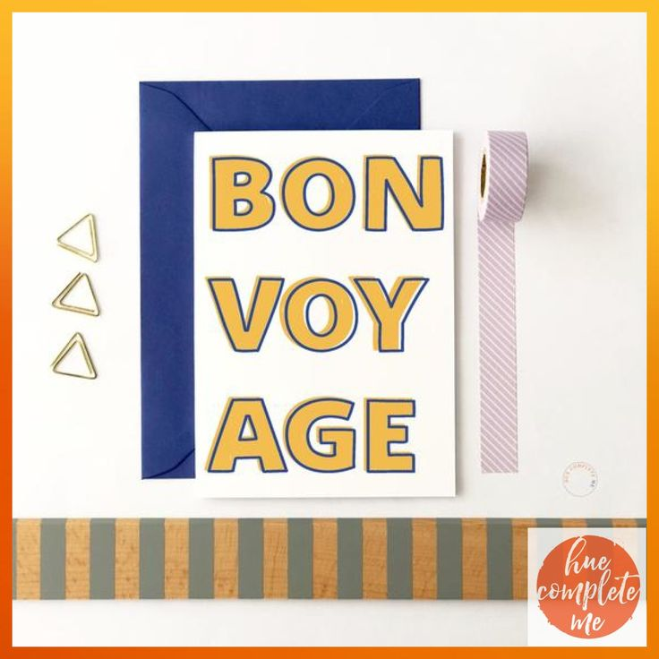 bon voyage card leaving card farewell card goodbye card