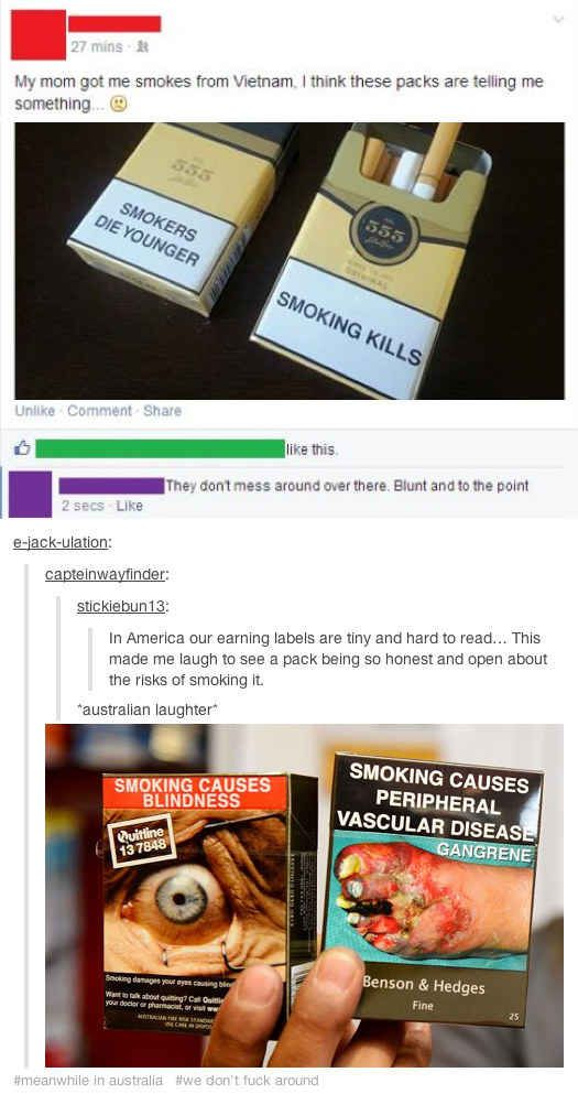On the anti-smoking campaign: