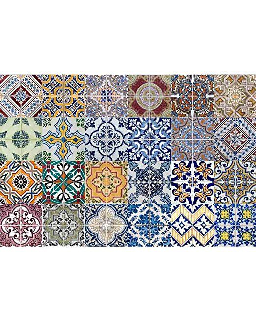 Amazon Com Backsplash Tile Stickers 24 Pc Set Traditional