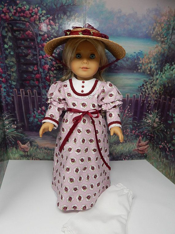44212a271119 Caroline s Visiting Day Dress with bonnet and pantaloons ...