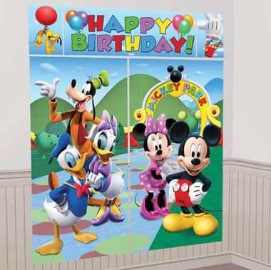 Includes (5) plastic wall decorations. Indoor/outdoor use. Apply with your adhesive or fasteners. Scene Setters by Amscan. This is an officially licensed Disney product.