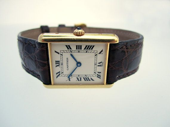 Cartier Tank Louis Cartier Vintage Gold Watch by HudsonEstate, $3800.00