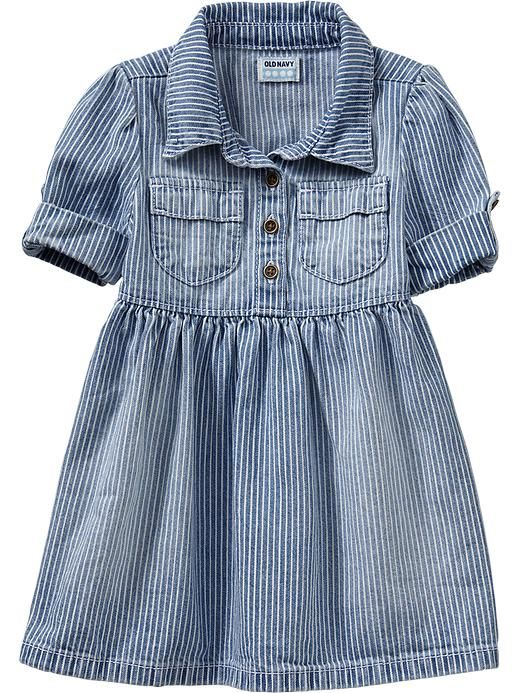 Old Navy | Striped Shirtdresses for Baby: Babies, Future Kiddos 3, Kids Style, Baby Kids, Baby Girls, Kids Couture, Striped Shirtdresses, Old Navy, Kids Faaashioonn