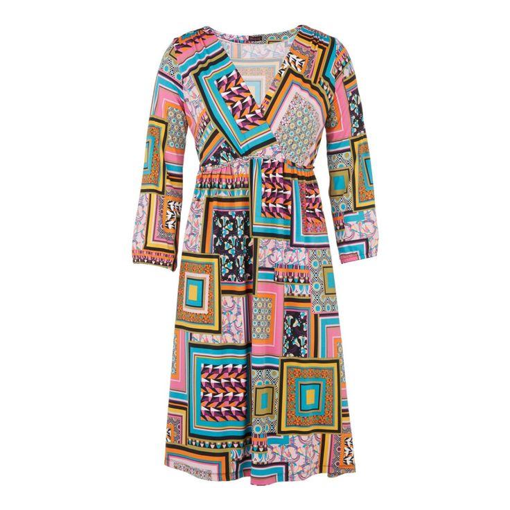 Slinky wrap dress  Multi-colour
