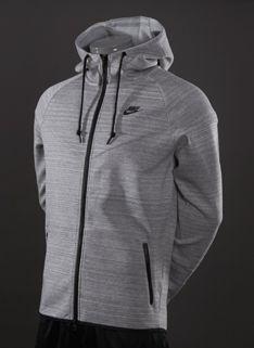 Nike Sportswear Tech Windrunner 1.0 - Mens Running Clothing - Dark Grey Heather-Base Grey-Black