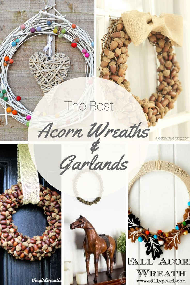 25 best ideas about acorn wreath on pinterest for Acorn decoration ideas