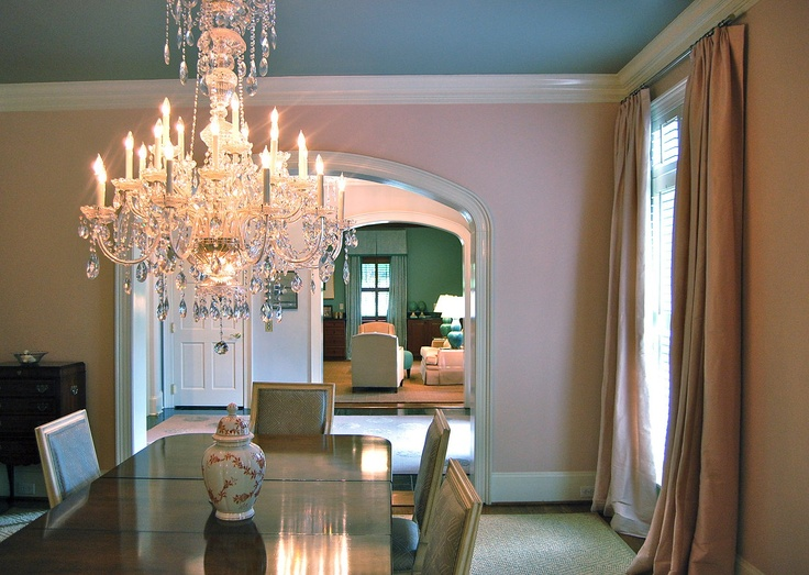 Katherine connell interior design pink dining room for Pink dining room ideas