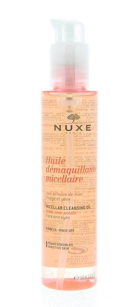 Nuxe Demaquillant Huile Démaquillante Micellaire Olie Gevoelige Huid 150ml  Description: Nuxe Demaquillant Huile Démaquillante Micellaire. Een micellaire olie voor het gezicht en de ogen bevat rozenblaadjes en is geschikt voor de gevoelige huid. Verwijdert op zachte wijze make-up (ook waterproof) en onzuiverheden die op de huid ontstaan door gebruik van zonnebescherming of van vervuilde lucht. Bevat 87% ingrediënten van natuurlijke oorsprong. Vrij van parabenen en niet-comedogeen. Gebruik…