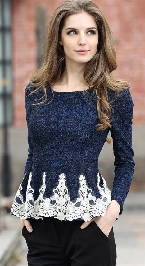Long Sleeve Lace Blouses