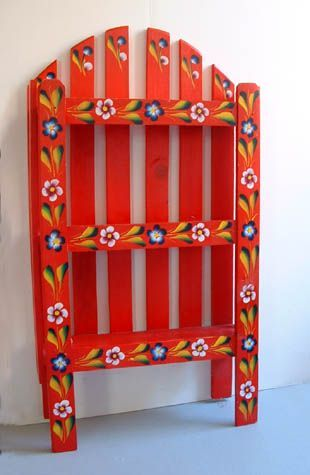 Mexican Handcraft Hand Made Wood Shelf Mexico Culture