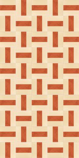 Klinker Batlló Rojizo är en matt, beige och terrakotta-färgad keramisk platta från spanska Vives. Kan användas till både vägg och golv, inomhus REA 499:- m²