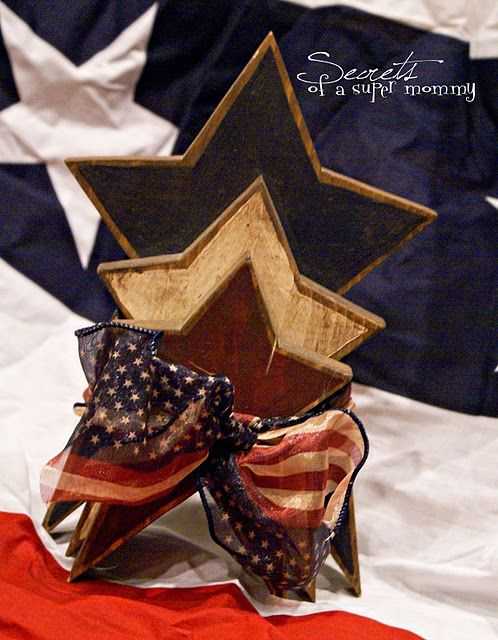 fourth of july stars: Fourth Of July, Red Whit, July Crafts, Super Mommy, 4Th Of July, July 4Th, Americana Crafts, July Explo, Wooden Stars