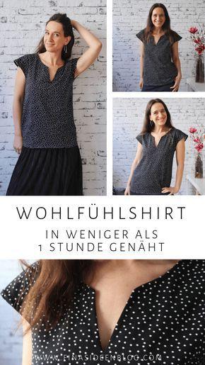 Ankerliebe – Schnittmuster für ein Damen Shirt mit tollem Ausschnitt