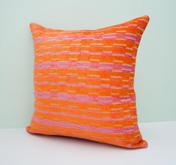 Orange pillow cover decorative throw pillow cushion by pillowdy, $17.90