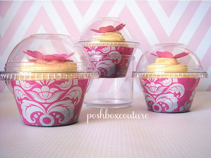Cupcake Favor Boxes. YoTruth Christmas White Cupcake Boxes ...