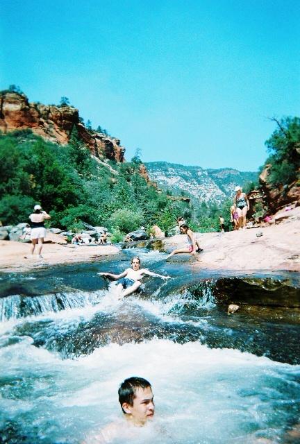 Slide Rock Park, Sedona, AZ. freezing water but super cool