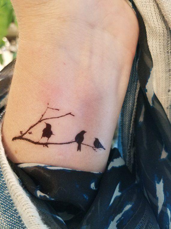 Birds On A Limb Tattoo Temporary Tattoo Birds Sitting On A Little Bird Tattoos Bird Tattoo Wrist Bird Tattoos For Women
