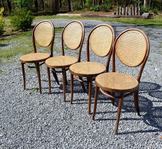 Reserved Vintage Bentwood Chair Set Of 4 Cane Seat And