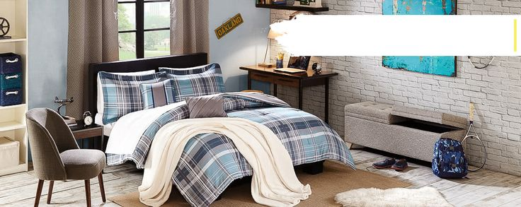 PREPPY#Checkered Boys bedding set