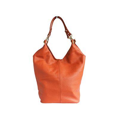 Roberta Italian Orange Leather Hobo Bag - £59.99