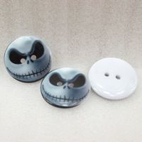 25Y43578  22*22mm halloween button high quality printed polyester ribbon 25 pieces, DIY handmade materials, wedding gift wrap