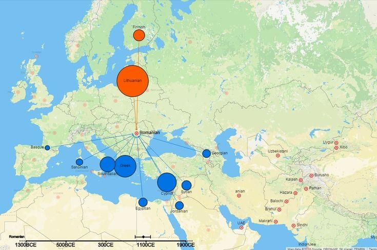 Primul atlas genetic al lumii indică înrudiri surprinzătoare ale românilor cu alte populații