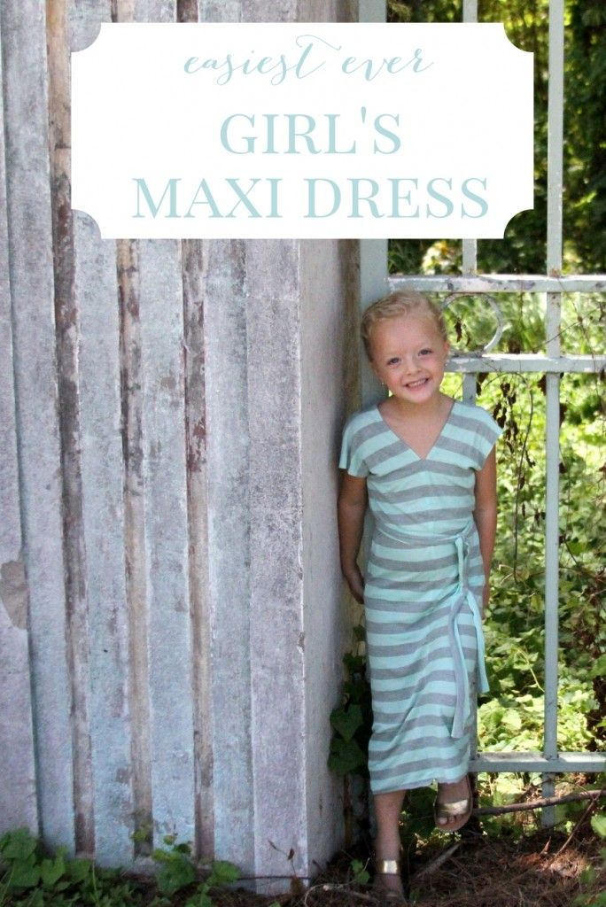 This sweet girls' maxi dress is not only absolutely darling, it is such an easy sew! In fact, if you have jersey on hand, you could whip one up during nap time today!