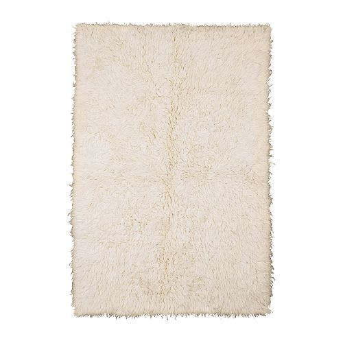 FLOKATI Rug, high pile IKEA The high pile provides a soft and warm surface for your feet and also dampens sound. Wool is naturally soil-repellent.