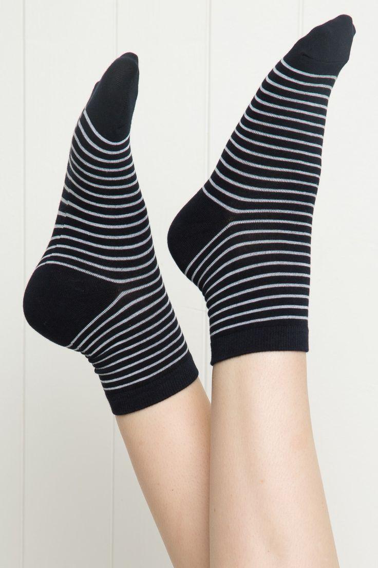 Brandy ♥ Melville | Black Stripe Socks - Accessories