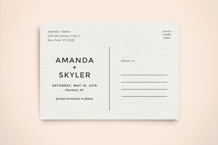 Save the Date Postcard Template by Hitch Paper Co. on @creativemarket
