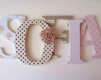 Nursery wooden wall letters knight themed in by SummerOlivias