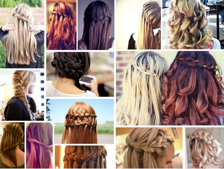 Waterfall braids! So beautiful!
