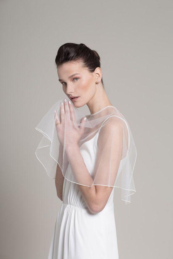 Tulle Shawl Simple Wedding Dress Wrap By Lennyfashion