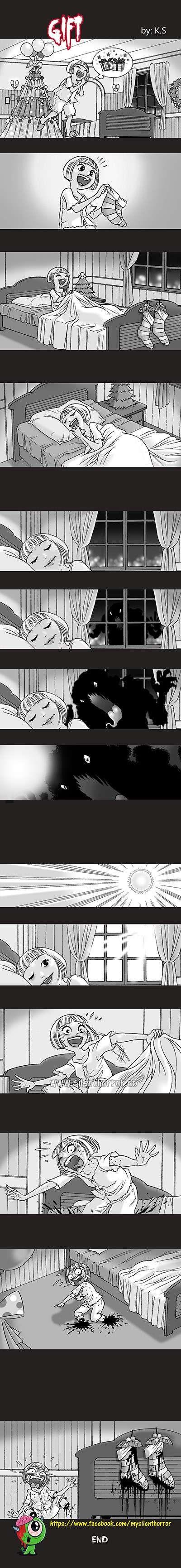 Silent Horror :: Gift | Tapastic Comics - image 1