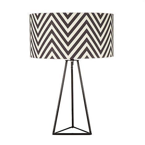 Betty Jackson.Black Black zig zag patterned lamp- at Debenhams.com