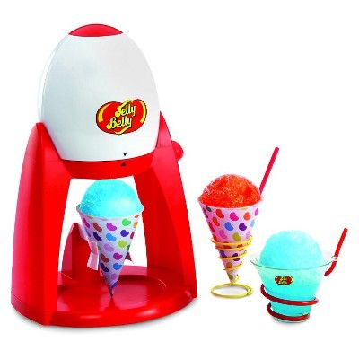 Jelly Belly Electric Ice Shaver Snow Cone Maker, White/Red