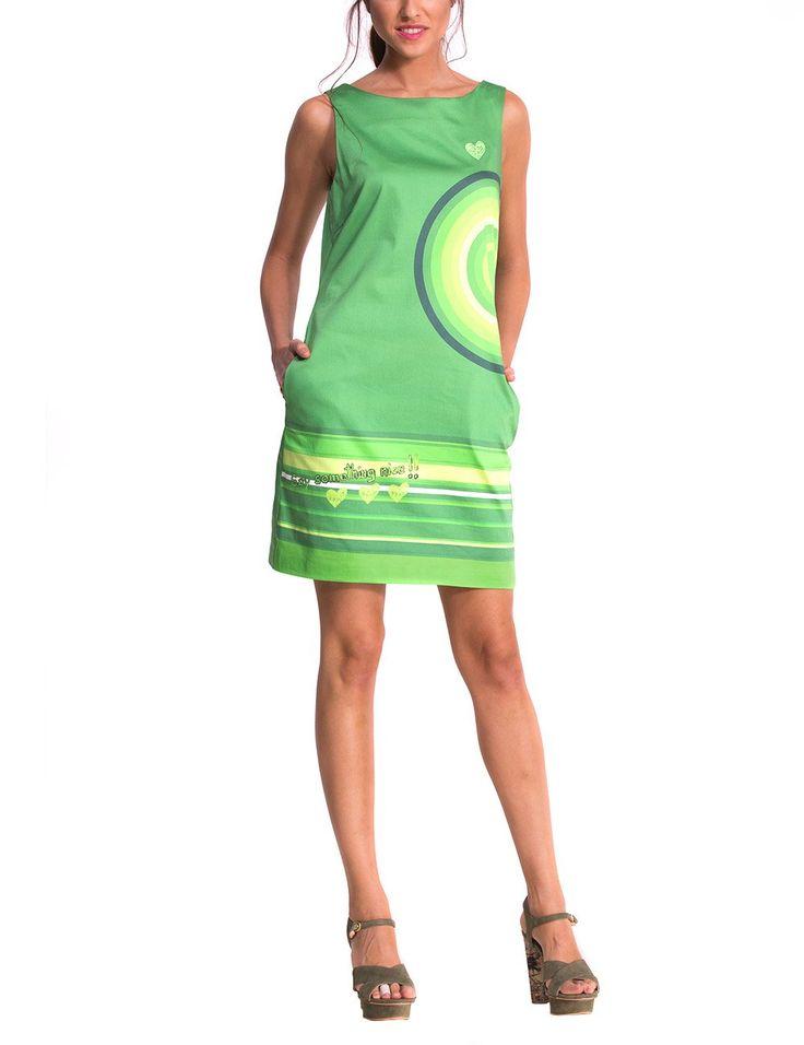 Desigual Savanna - Robe - Taille empire - Imprimé - Sans manche - Femme: Amazon.fr: Vêtements et accessoires