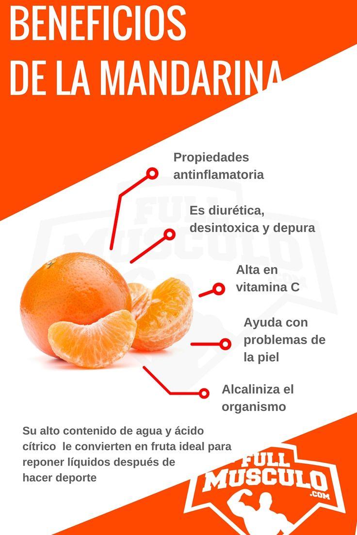 Infografia de las propiedades de la mandarina. #Fitness #Infografia #Dieta