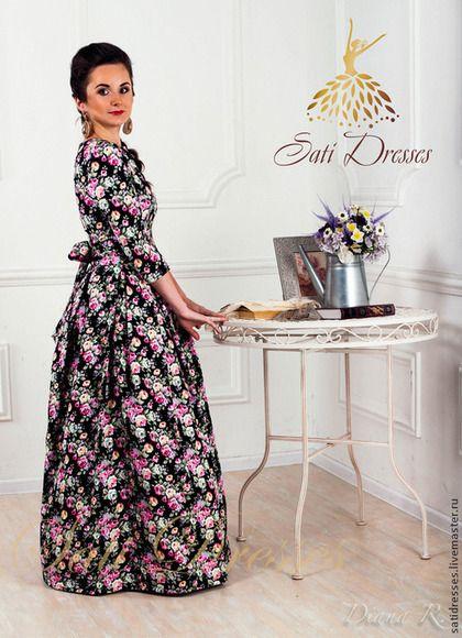Платье. - цветочный,платье,длинное платье,платье в пол,длинное платье в пол