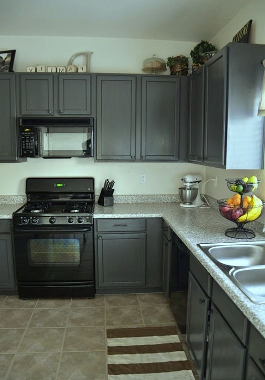 114 best images about kitchen on pinterest gray and Painting your kitchen cabinets white and gray