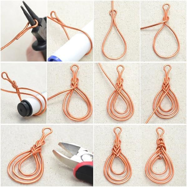 Photo Tutorial on Wire Wrapping Orange Red Pipa Knot Earrings - Bead&Cord