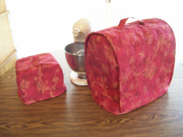 Kitchen Aid mixer cover, Reversible /Quilted Mixer Cover for a 5 Quart Kitchen Aid Mixer/ red royal cotton fabric