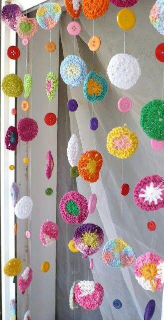 Crochet, buena idea para aprovechar los botones