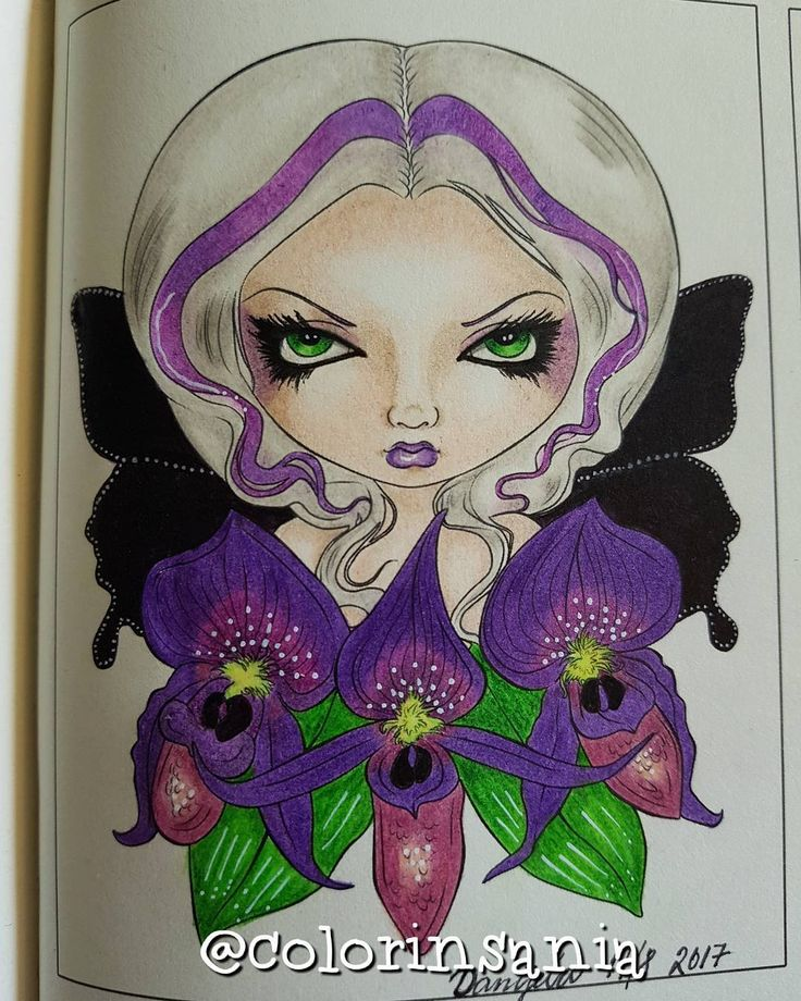 "60 gilla-markeringar, 4 kommentarer - Danijela, Sweden  (@colorinsania) på Instagram: ""Black Orchid Fairy by #jasminebecketgriffith . Love this book do much.…"""