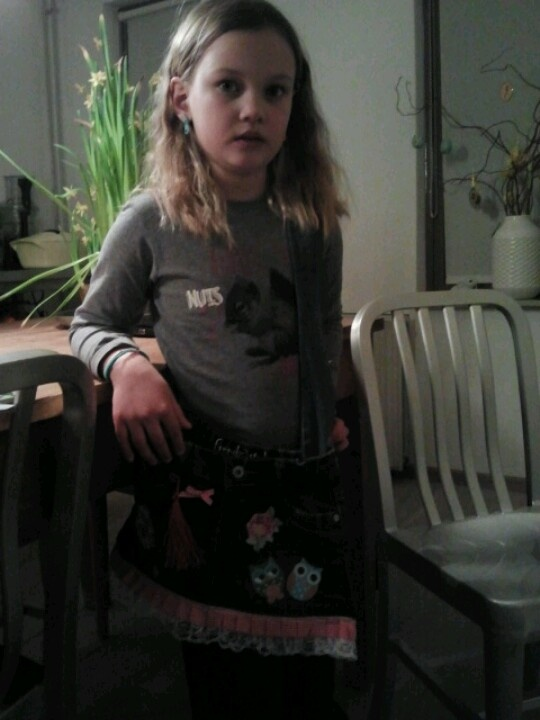 """daan met haar """" oude rok tas"""""""