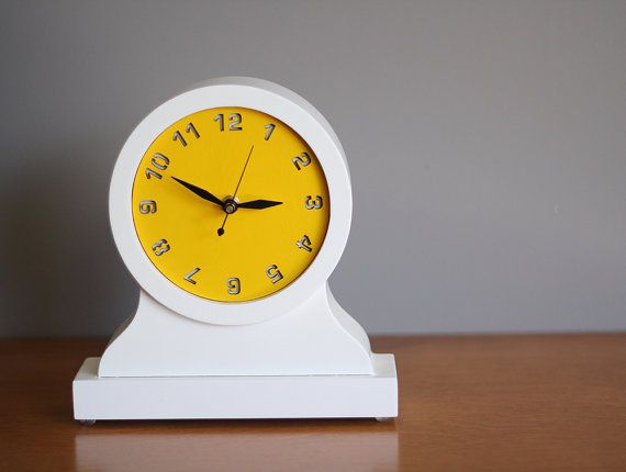 modern mantel clock  desktop clock by uncommon on Etsy