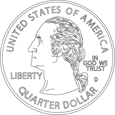Dollar Coin Coloring Page Handwritingforkids